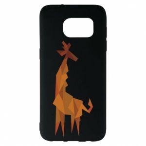 Etui na Samsung S7 EDGE Giraffe abstraction
