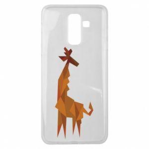 Etui na Samsung J8 2018 Giraffe abstraction
