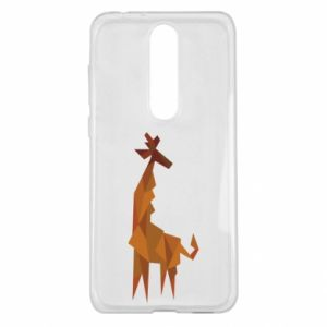 Etui na Nokia 5.1 Plus Giraffe abstraction