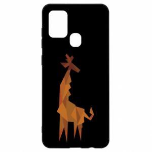 Etui na Samsung A21s Giraffe abstraction