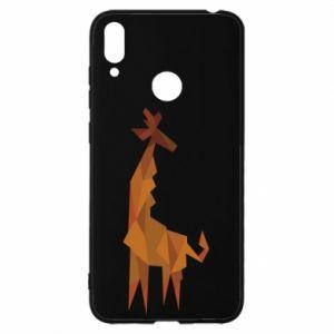 Etui na Huawei Y7 2019 Giraffe abstraction