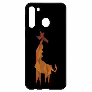 Etui na Samsung A21 Giraffe abstraction