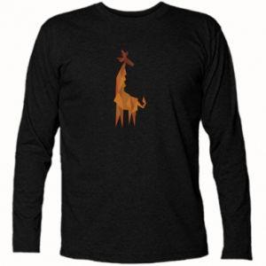 Long Sleeve T-shirt Giraffe abstraction - PrintSalon