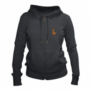 Women's zip up hoodies Giraffe abstraction - PrintSalon