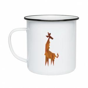 Enameled mug Giraffe abstraction - PrintSalon