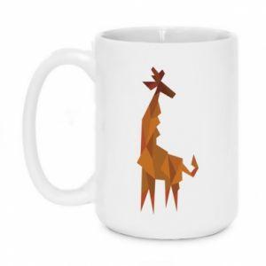 Mug 450ml Giraffe abstraction - PrintSalon