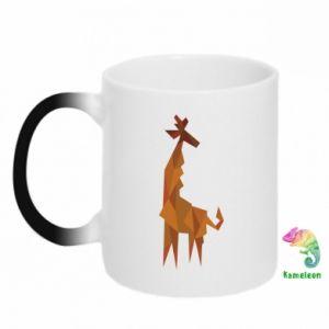 Chameleon mugs Giraffe abstraction - PrintSalon