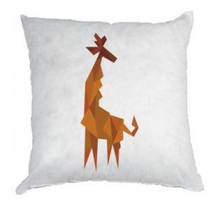 Pillow Giraffe abstraction - PrintSalon