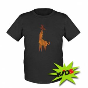 Kids T-shirt Giraffe abstraction