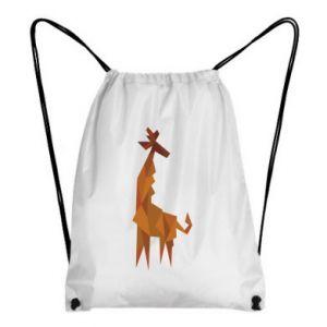 Backpack-bag Giraffe abstraction - PrintSalon