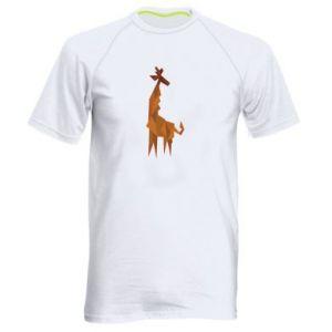 Men's sports t-shirt Giraffe abstraction - PrintSalon