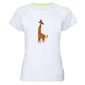 Women's sports t-shirt Giraffe abstraction - PrintSalon