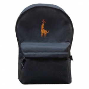 Backpack with front pocket Giraffe abstraction - PrintSalon