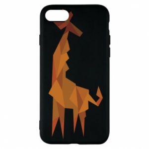 Phone case for iPhone 7 Giraffe abstraction - PrintSalon