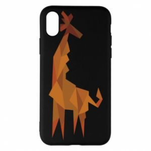 Phone case for iPhone X/Xs Giraffe abstraction - PrintSalon