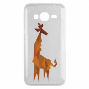 Phone case for Samsung J3 2016 Giraffe abstraction - PrintSalon