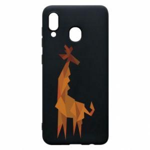 Phone case for Samsung A20 Giraffe abstraction - PrintSalon