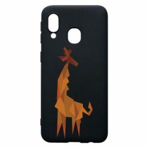 Phone case for Samsung A40 Giraffe abstraction - PrintSalon