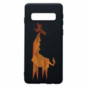 Phone case for Samsung S10 Giraffe abstraction - PrintSalon