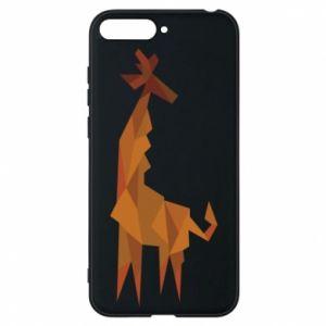 Phone case for Huawei Y6 2018 Giraffe abstraction - PrintSalon