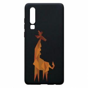 Phone case for Huawei P30 Giraffe abstraction - PrintSalon