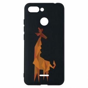 Phone case for Xiaomi Redmi 6 Giraffe abstraction - PrintSalon