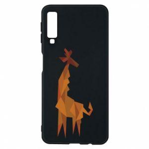 Phone case for Samsung A7 2018 Giraffe abstraction - PrintSalon