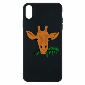 Phone case for iPhone Xs Max Giraffe with a branch