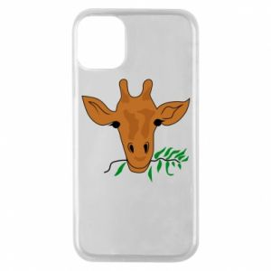 Phone case for iPhone 11 Pro Giraffe with a branch