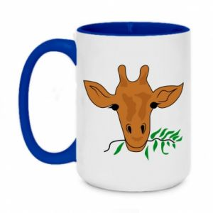 Two-toned mug 450ml Giraffe with a branch