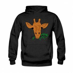 Bluza z kapturem dziecięca Giraffe with a branch