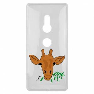 Etui na Sony Xperia XZ2 Giraffe with a branch