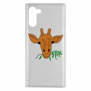 Etui na Samsung Note 10 Giraffe with a branch