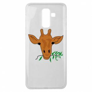 Etui na Samsung J8 2018 Giraffe with a branch