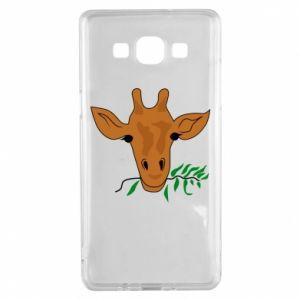 Etui na Samsung A5 2015 Giraffe with a branch