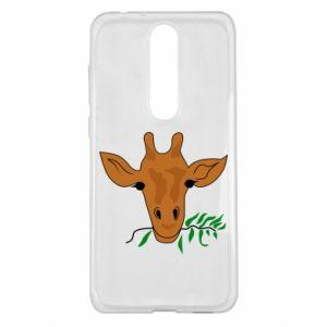 Etui na Nokia 5.1 Plus Giraffe with a branch