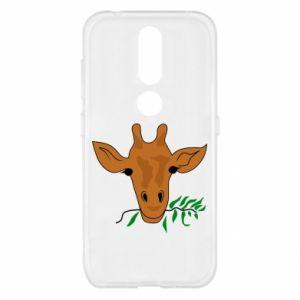 Etui na Nokia 4.2 Giraffe with a branch