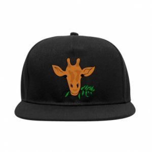 SnapBack Giraffe with a branch