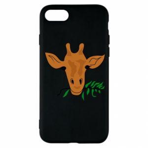 Etui na iPhone SE 2020 Giraffe with a branch