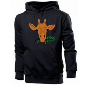 Men's hoodie Giraffe with a branch