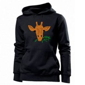 Women's hoodies Giraffe with a branch