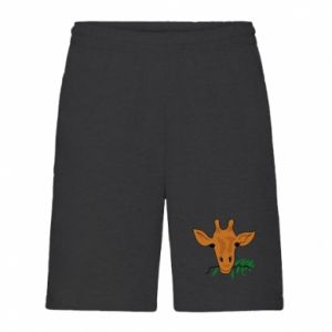 Men's shorts Giraffe with a branch