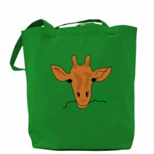 Bag Giraffe with a branch
