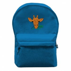 Backpack with front pocket Giraffe with a branch