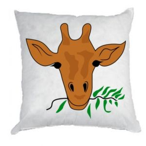 Pillow Giraffe with a branch