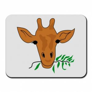 Mouse pad Giraffe with a branch