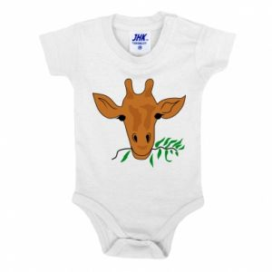 Baby bodysuit Giraffe with a branch