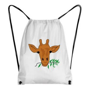 Backpack-bag Giraffe with a branch