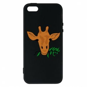 Phone case for iPhone 5/5S/SE Giraffe with a branch