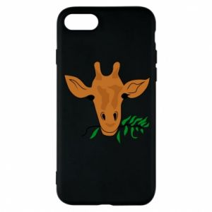 Phone case for iPhone 8 Giraffe with a branch